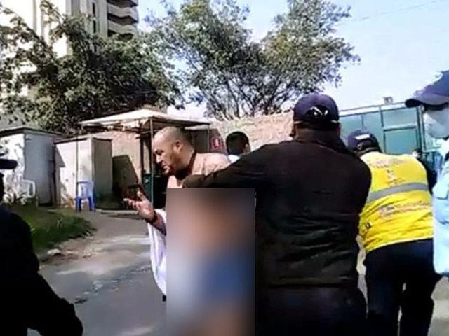 Surco: hombre se desviste en depósito municipal exigiendo le devuelvan su camioneta