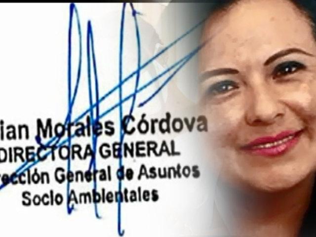 Contraloría confirma que Miriam Morales contrató irregularmente a la hermana de su expareja en MTC