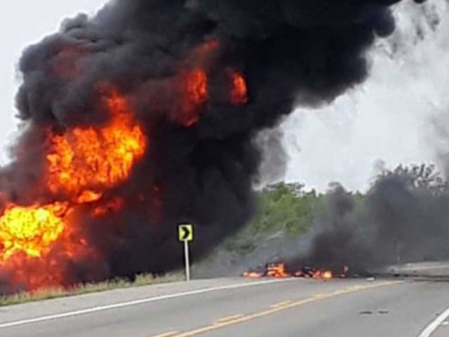 VIDEO: explosión de camión cisterna deja varios muertos y heridos en Colombia