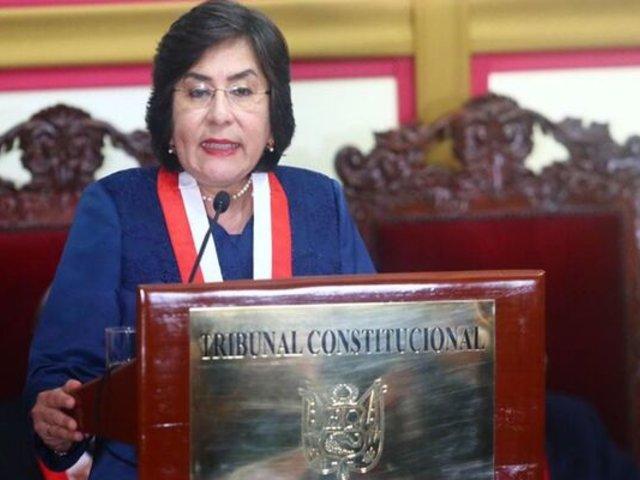 Presidenta del TC se mostró preocupada por eliminación de la inmunidad