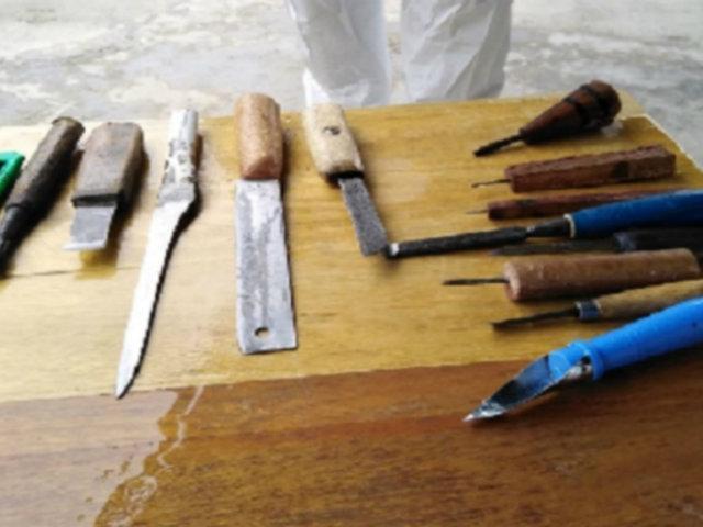 Cajamarca: incautan más de 20 armas punzocortantes en pabellones de penal
