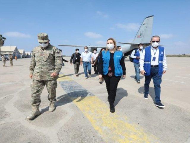 Presidenta de EsSalud llegó a Lambayeque para instalación de villa destinada a pacientes con COVID-19