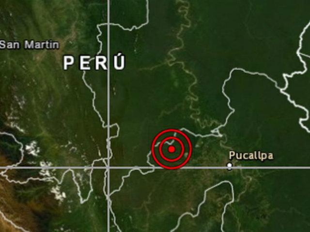 Ucayali: sismo de magnitud 4.5 se registró esta tarde en Pucallpa