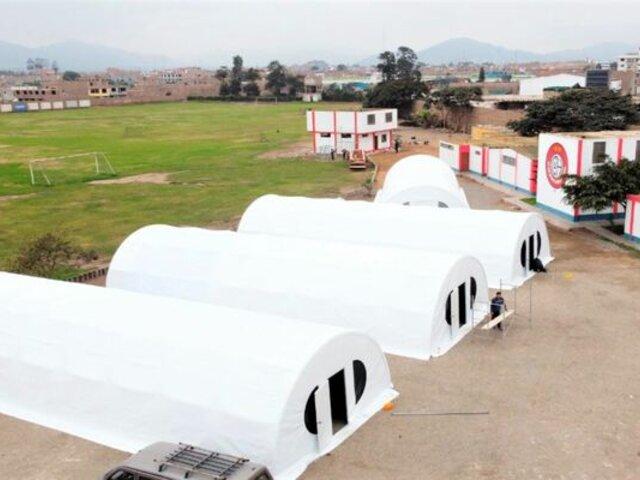 Huaral: instalan cuatro tiendas de campaña para atender a pacientes con COVID-19