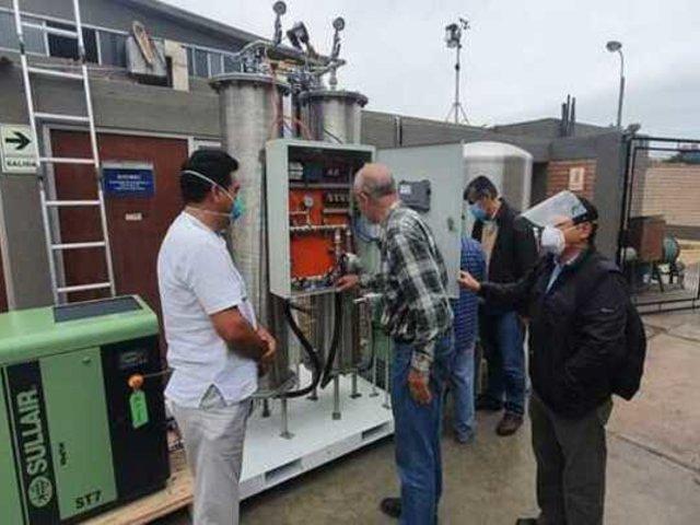 Ingenieros y estudiantes de la PUCP crearon planta de oxígeno