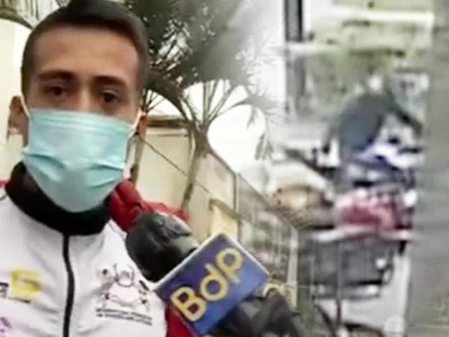 Jesús María: fisicoculturista recibe amenazas de delincuentes que le robaron moto