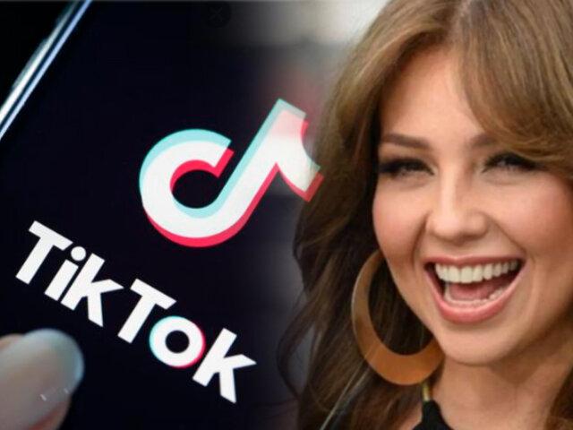 Thalía reacciona al movimiento que busca el cierre de Tik Tok