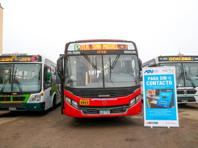 Más de 300 unidades de transporte público tendrán pago sin contacto para fines de julio