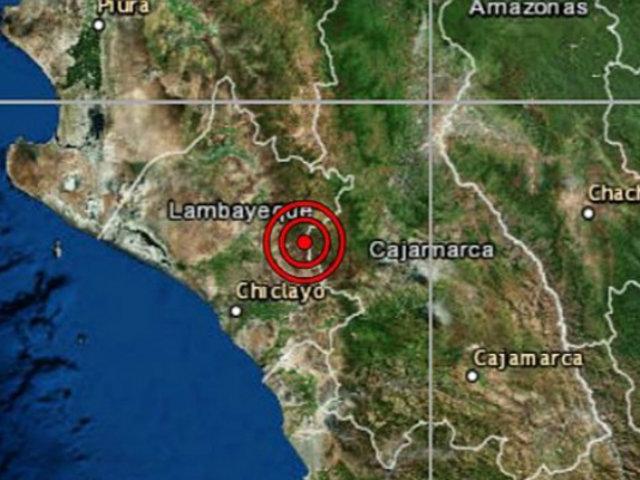 Sismo de magnitud 4.0 se registró esta noche en Lambayeque