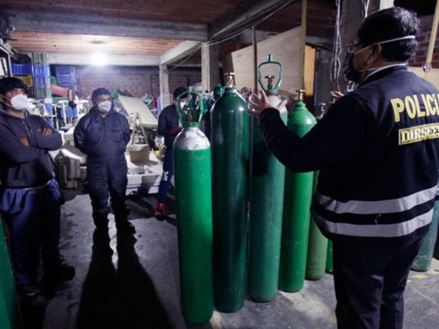 El Agustino: clausuran local sin licencia que vendía oxígeno medicinal