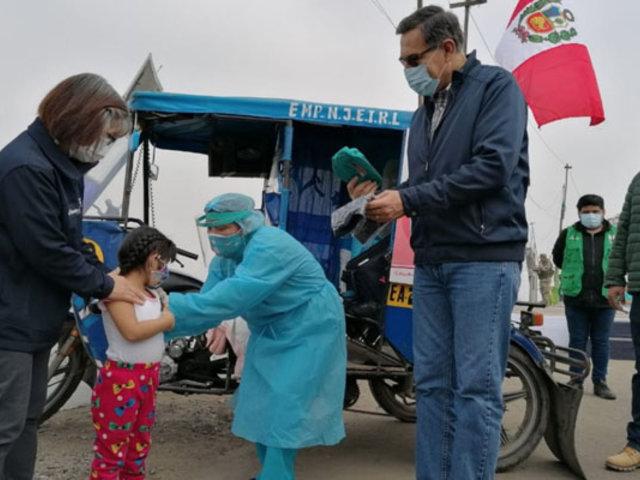 Presidente Martín Vizcarra participó en campaña de salud en El Agustino