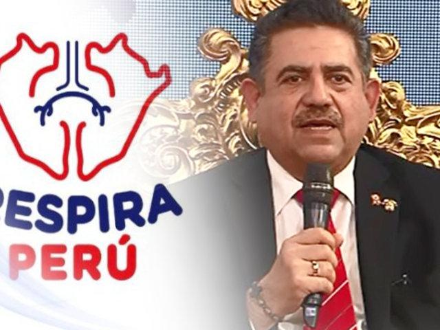 """Presidente del Congreso se une a campaña """"Respira Perú"""""""