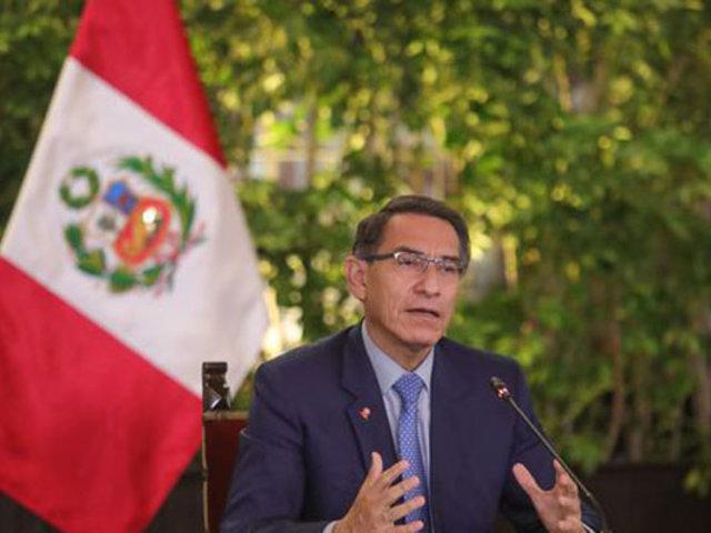 Vizcarra: Confío que Congreso ratifique ley que impide postular a sentenciados