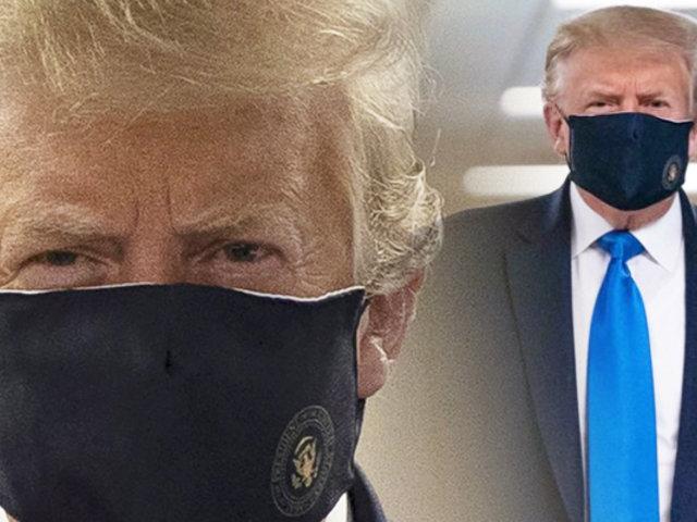 Donald Trump aparece con mascarilla por primera vez