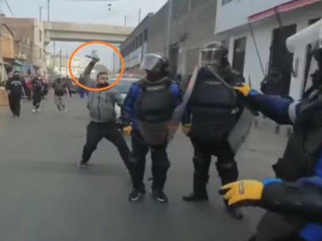 Sujeto acuchilla a fiscalizador de la Municipalidad de Lima