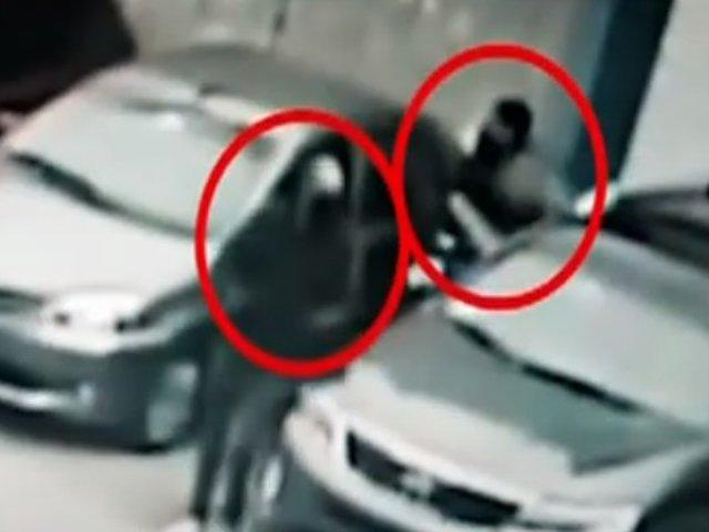 """Cercado de Lima: delincuentes roban autopartes de """"Toyota"""""""