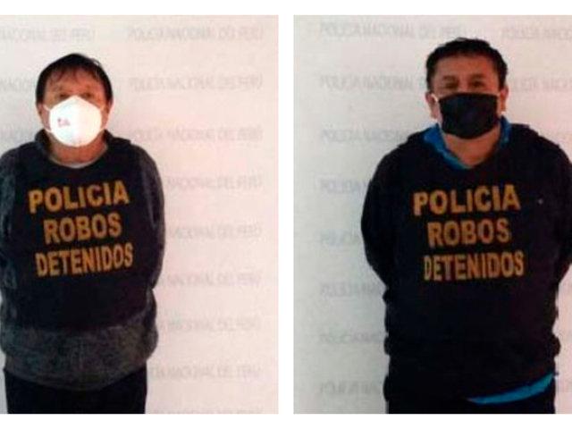 Comas: capturan a dos integrantes de banda delincuencial 'Los Farmacovid de Belaúnde'