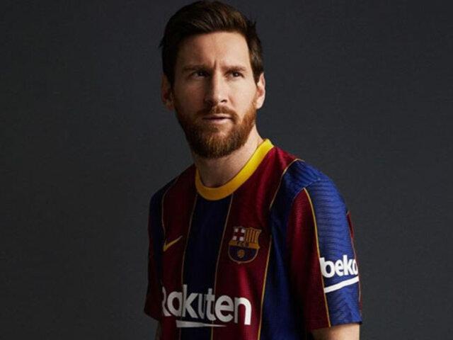 FC Barcelona presentó oficialmente su nueva camiseta de la temporada 2020-21