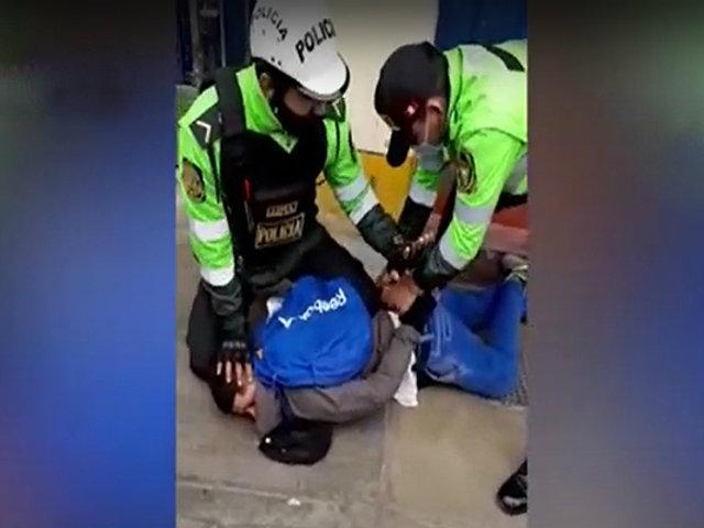 SMP: policía frustra asalto en una agencia bancaria en la Av. Perú