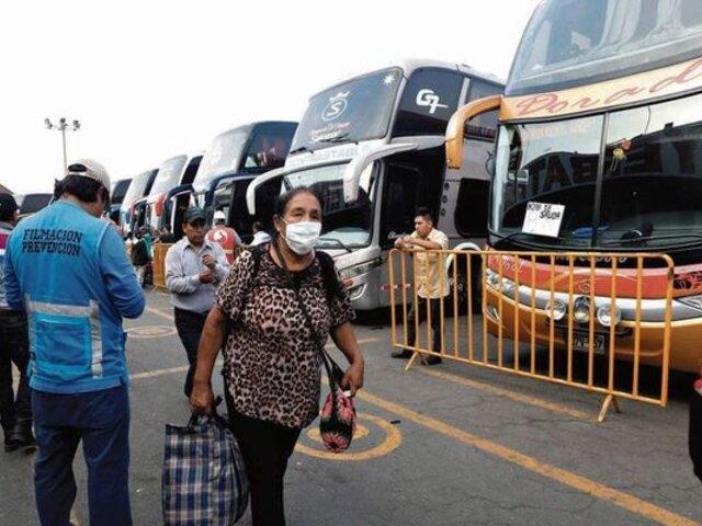 Viajes interprovinciales son suspendidos por estado de cuarentena