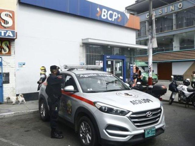 SMP: delincuentes peruanos y venezolanos participaron en robo a agencia BCP