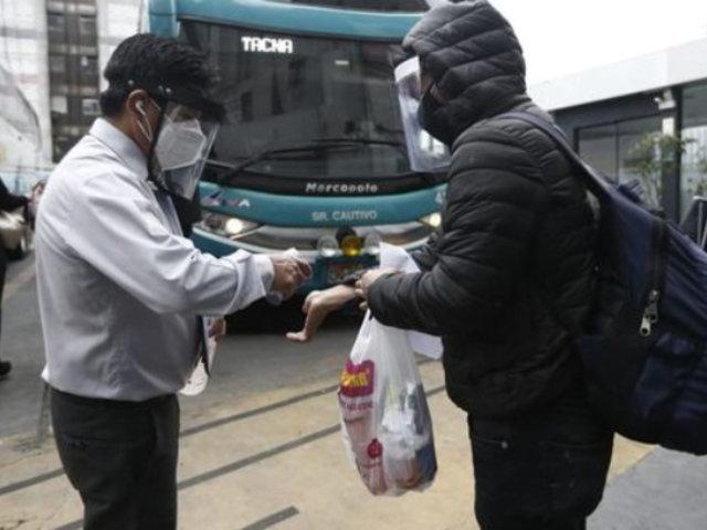 Conductores de transporte que incumplan protocolos serán multados hasta con S/ 2 150