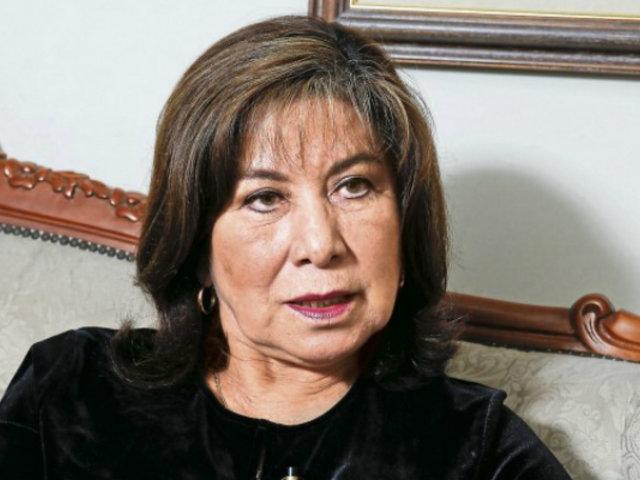 Martha Chávez propone que solo fundadores de partidos políticos puedan postular a la presidencia