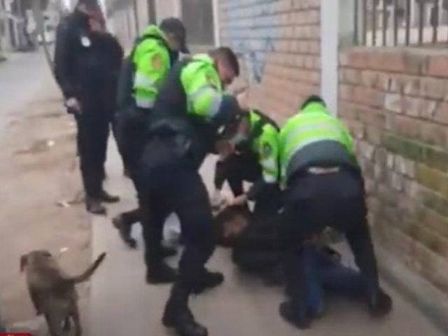 Breña: Policía detiene a dos delicuentes tras persecución y balacera