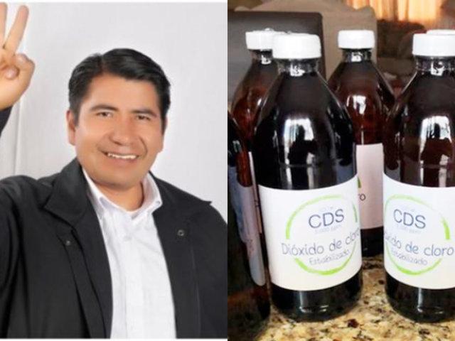 Congresista Rubén Ramos defiende el uso del dióxido de cloro para tratar el Covid-19