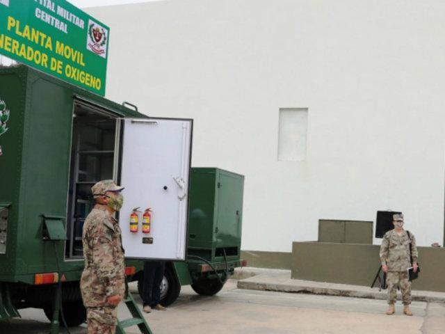 SJL: población recibe oxígeno gratis de la 'planta móvil' del Ejército