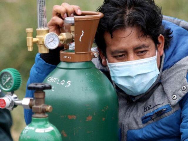SJL: más de 200 personas fueron abastecidas de oxígeno gratis