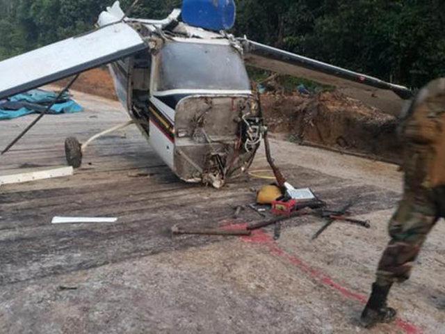 Ucayali: abandonan avioneta cargada con 350 kilos de pasta básica de cocaína