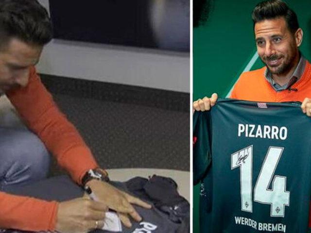 Claudio Pizarro subasta camiseta inédita del Bremen para ayuda social en Perú