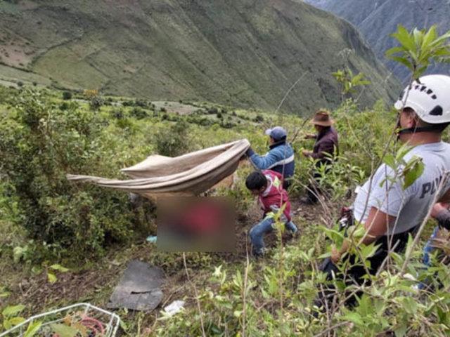 Despiste de camioneta deja dos muertos y un herido en el Cusco