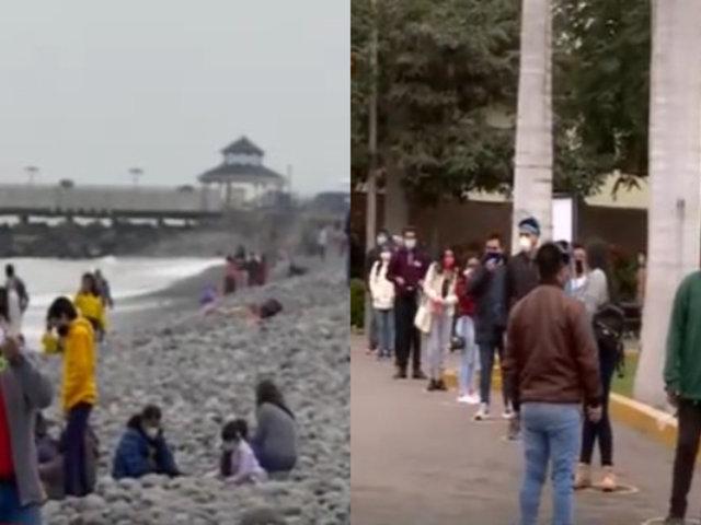 Familias salieron a pasear a las playas de la Costa Verde y al Parque de las Leyendas por Fiestas Patrias