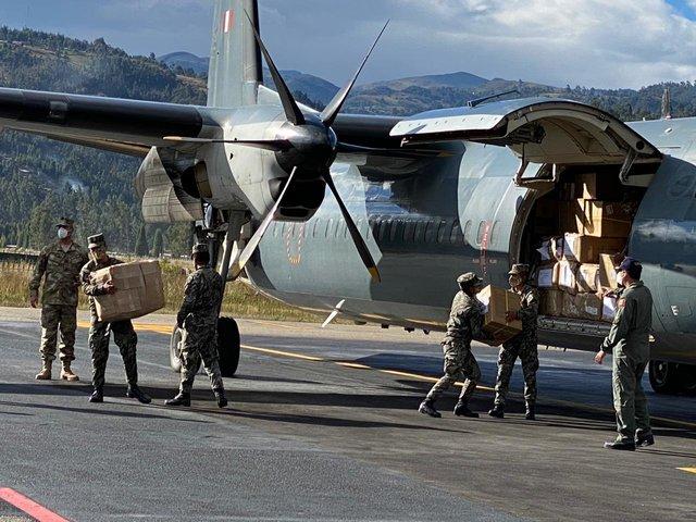 Marina de Guerra envió a Cajamarca insumos para la Operación Tayta