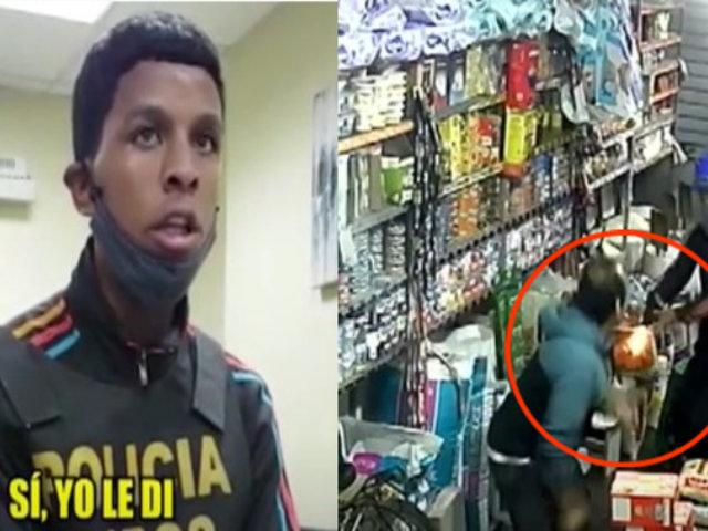 SMP: En un robo frustrado, un ladrón disparó a quemarropa contra bodeguero pero falló de milagro