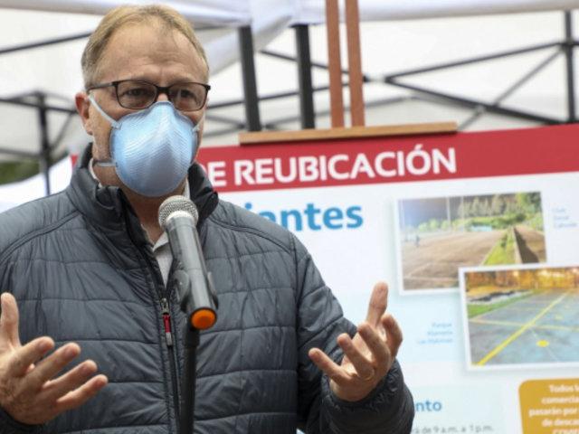 Muñoz: En 15 días sería traslado de comerciantes de La Parada a mercado de Santa Anita