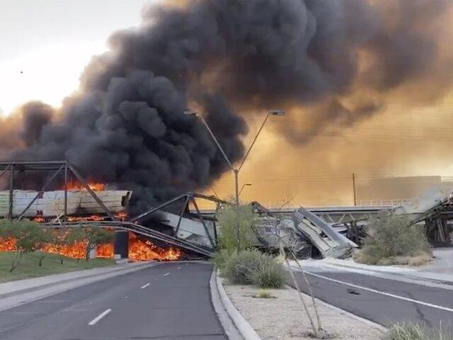 Estados Unidos: tren que se descarriló no dejó muertos ni heridos