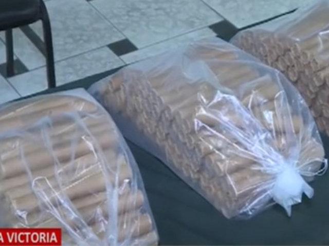 La Victoria: dos sujetos fueron detenidos con gran cantidad de dinamita