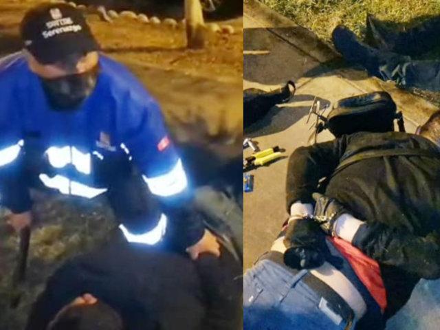 San Luis: Capturan a tres bandas que se dedicaban al robo de autopartes