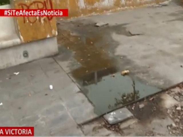Convierten en letrina emblemática Plaza Manco Cápac: La Victoria