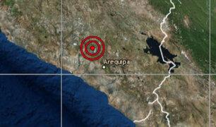 Arequipa: sismo sacudió la región esta madrugada