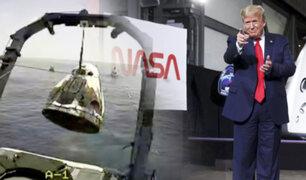 Donald Trump celebró el regreso de los astronautas de SpaceX