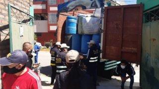 Huancayo: decomisan productos de desinfección que se trasladaban de manera ilegal
