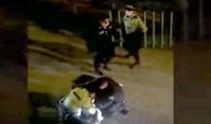 Independencia: atacan a policías durante intervención en fiesta clandestina