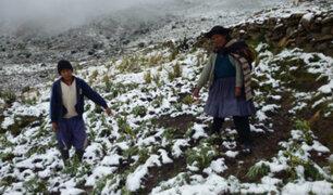 Senamhi anuncia bajas temperaturas en la sierra norte y se extenderán hasta el viernes