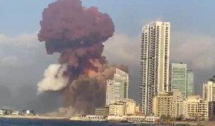 Gigantesca explosión se registró en un puerto del Líbano