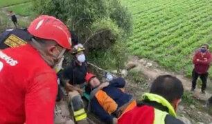 Huaral: tres obreros son rescatados tras ser aplastados por montículo de tierra