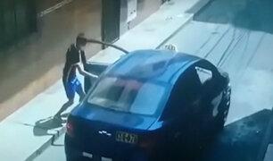 Carabayllo: arrastran a taxista que intentó evitar el robo de su auto